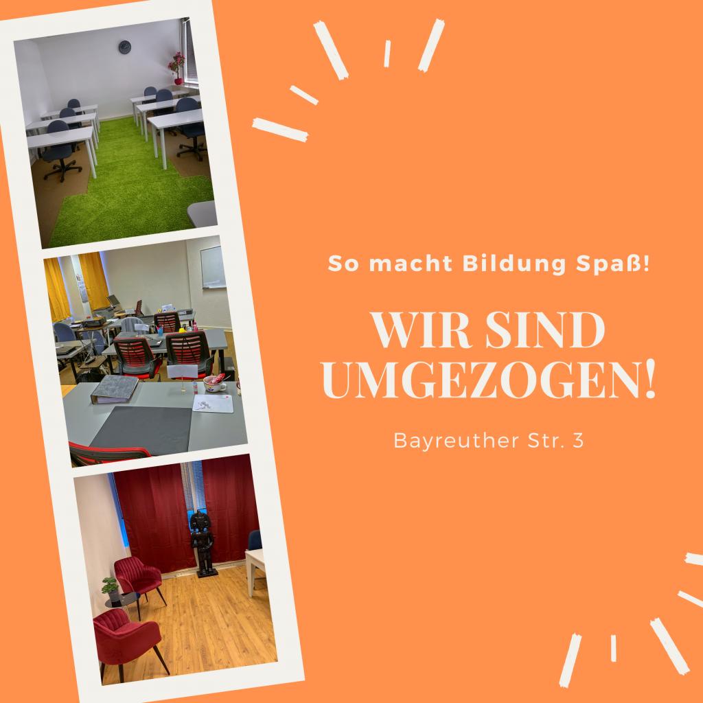 Bildungsagenten: neue Räume in der Bayreuther Str. 3
